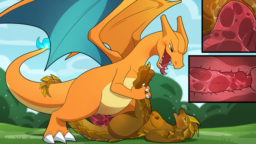 with orange tail pokemon fire Five nights at freddy's porn gifs