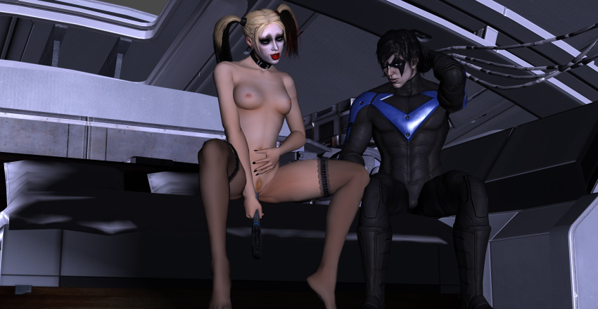 harley nightwing porn and quinn Blood girl my hero academia