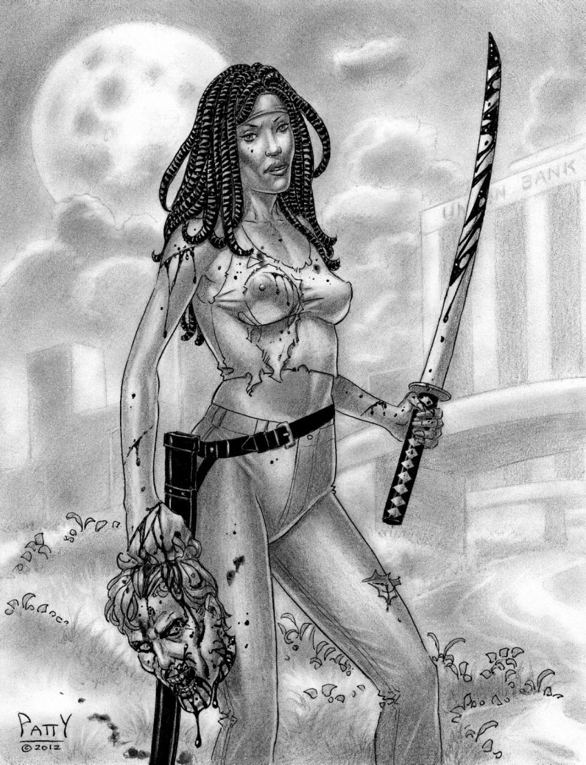 michonne walking naked dead the In_no_houteishiki